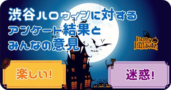 渋谷ハロウィンについてのアンケート