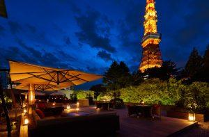 東京プリンスホテルのカフェ&バー「タワービューテラス」